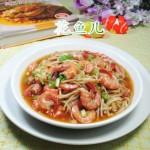 金针菇炒海虾