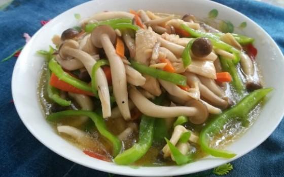 双丝炒蟹味菇