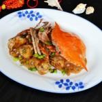 梭子蟹炒藕片