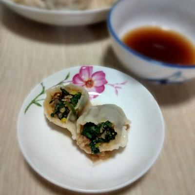 荠菜大葱猪肉饺子