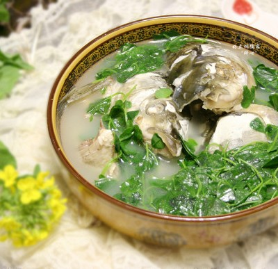 草头鱼头汤