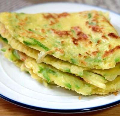 西葫芦培根鸡蛋饼