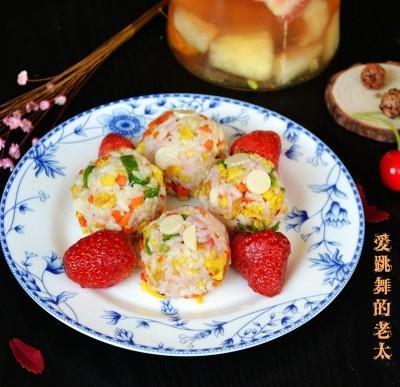 草莓多彩米饭团