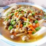 蟹味菇豆腐羹