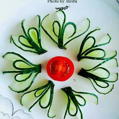 黃瓜花-擺盤圍邊
