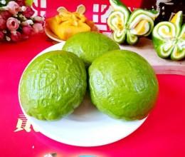 菠菜汁大福饼