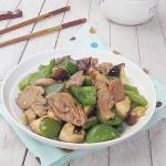 圆椒香菇炒肉
