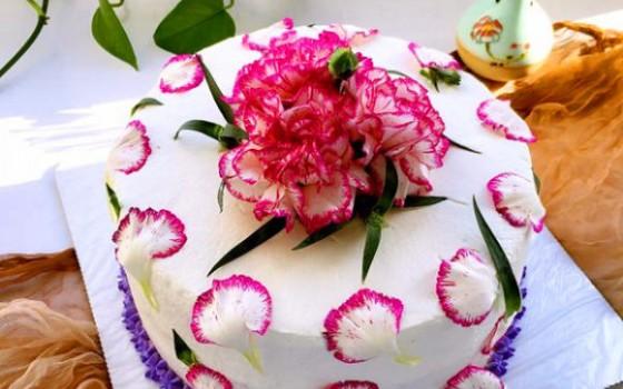 木糖醇鲜花蛋糕