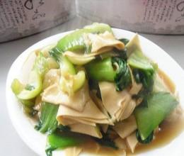 干豆腐烧油菜