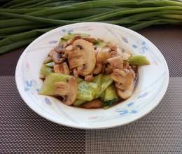 肉末炒口蘑