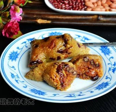 花生赤豆鲜肉粽