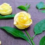 苹果玫瑰花-水果拼盘