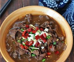 豆腐水煮牛肉片