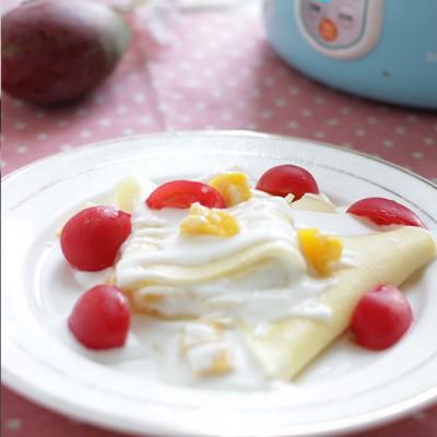 芒果酸奶可丽饼
