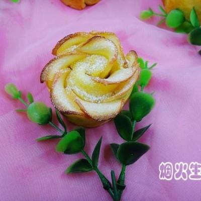 蘋果玫瑰花-水果拼盤