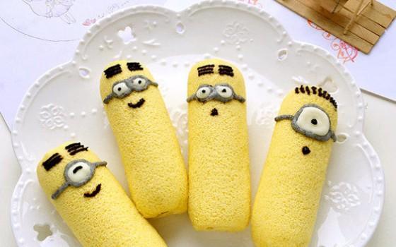 小黃人香蕉蛋糕卷