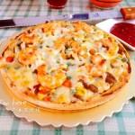 牛肉粒鲜虾披萨