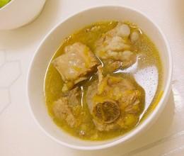 南瓜绿豆排骨汤