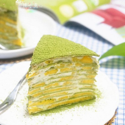 芒果抹茶千层蛋糕