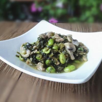 小炒毛豆子蘑菇