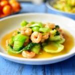 鲍汁油菜虾仁