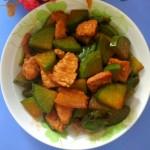 萝卜炒肉片