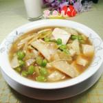 毛豆茭白煮豆腐