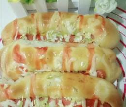 火腿肠香葱面包