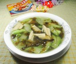 雪菜腐竹丝瓜汤