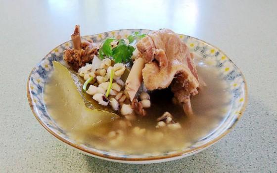 薏米茨实煲冬瓜鸭汤