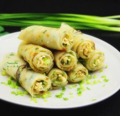 鸡丝肉卷饼#盛夏餐桌#