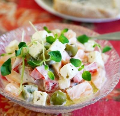 希腊酸奶蔬果沙拉#盛