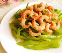 芹菜炝虾仁