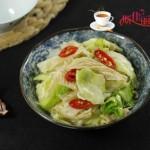 油豆皮炒圆白菜