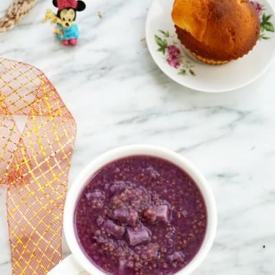 #盛夏餐桌#紫薯小米粥