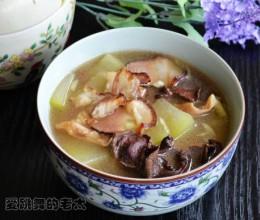 菌菇干腊肉冬瓜汤