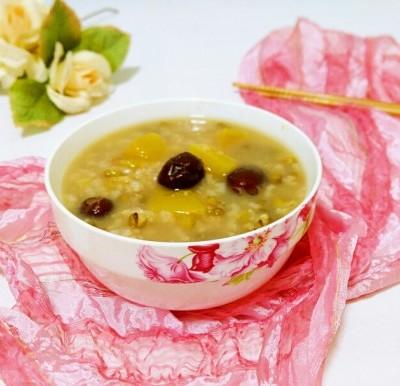 绿豆南瓜红枣粥