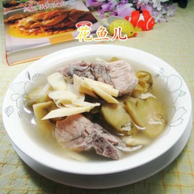 榨菜鞭笋龙骨汤