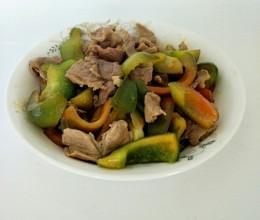 瘦肉炒菜椒