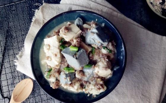 豆腐煮肉蓉