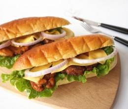 照烧鸡肉三明治