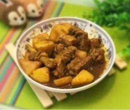 咖喱鸭腿炖土豆