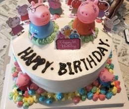 社会人小猪佩琪款生日蛋糕