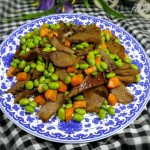 毛豆炒口条