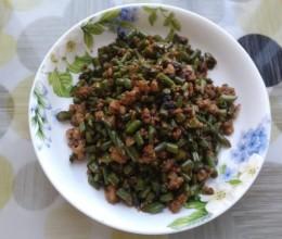 豆豉肉末炒豇豆