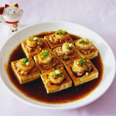 虾仁肉糜豆腐盒子