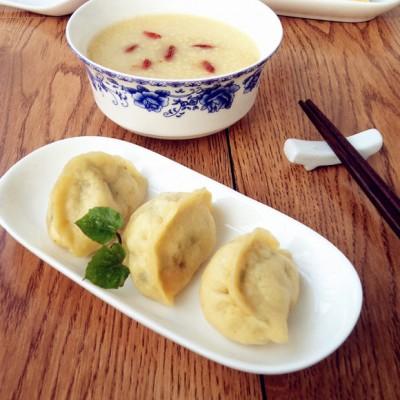 混合发面蒸饺