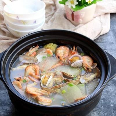 海鲜冬瓜煲