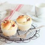 蔓越莓椰蓉花朵小面包