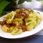 牛肉丸炒花菜